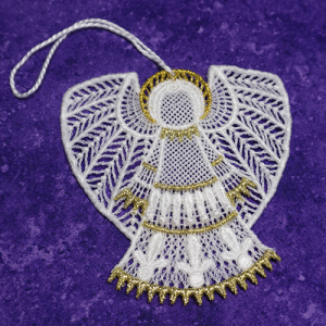 Madi Lace Angel Ornament
