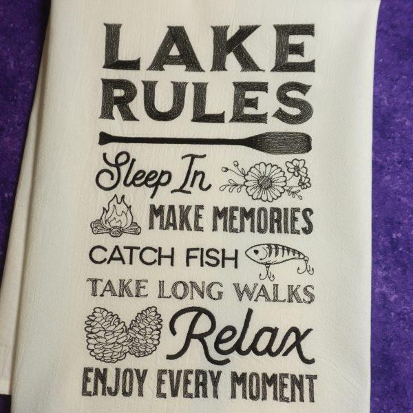 Lake Rules close up