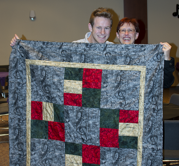 Nathan and Wendy with Graduation Quilt