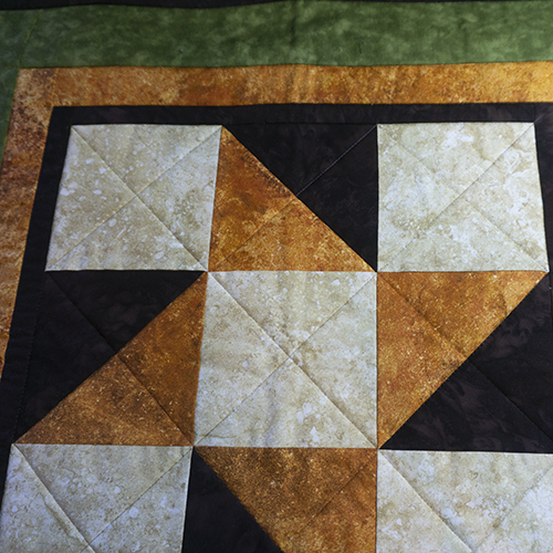 Fall Table Topper 2 Quilting