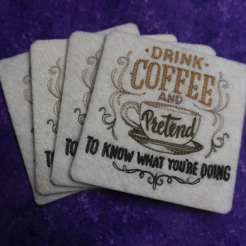 Drink Coffee Pretend to Know Coaster Set