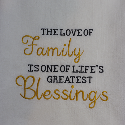 Love of Family Greatest Blessing Closeup