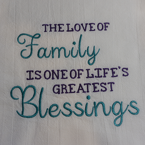 Family Greatest Blessing Closeup