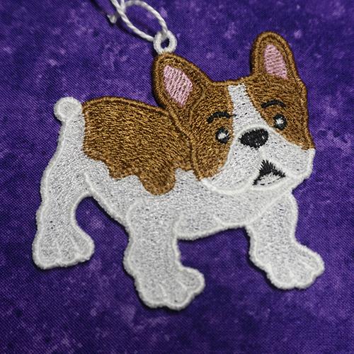 French Bull Dog FSL Ornament