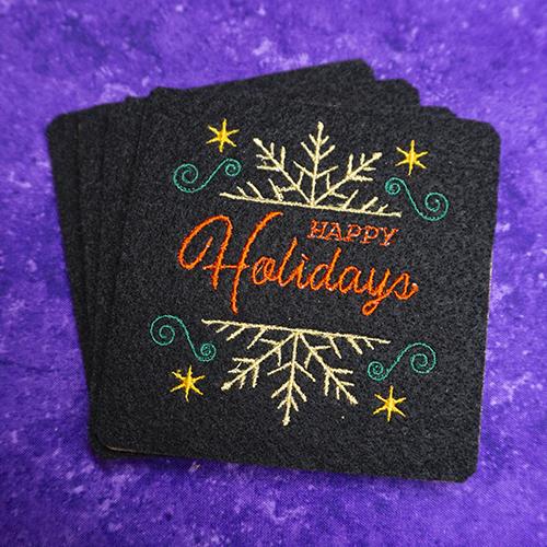Happy Holidays Coaster Set
