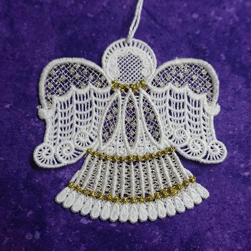Judy Lace Angel Ornament