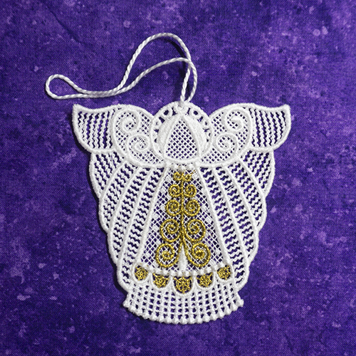 brigit Lace Angel Ornament