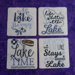 Lake House Coaster Set