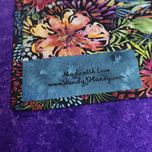 Moody Blooms Table Topper Label