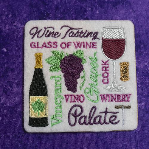 Red Wine Square Coaster