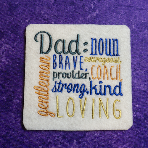 Coaster set to define just how great Dad is!