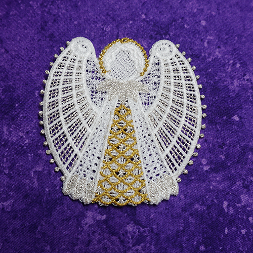Ruby Free Standing Lace Ornament