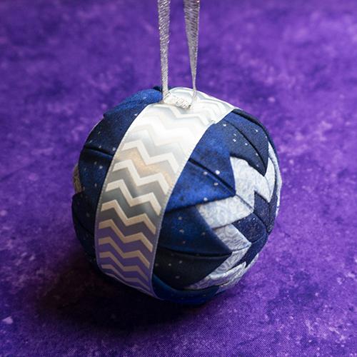 Side ribbon - Tri-Color Blue Star Ornament